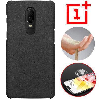 Sandstone Screen (Sandstone Original Slim Hard Back Case Cover+Screen Protector For OnePlus 7 6T 6 )