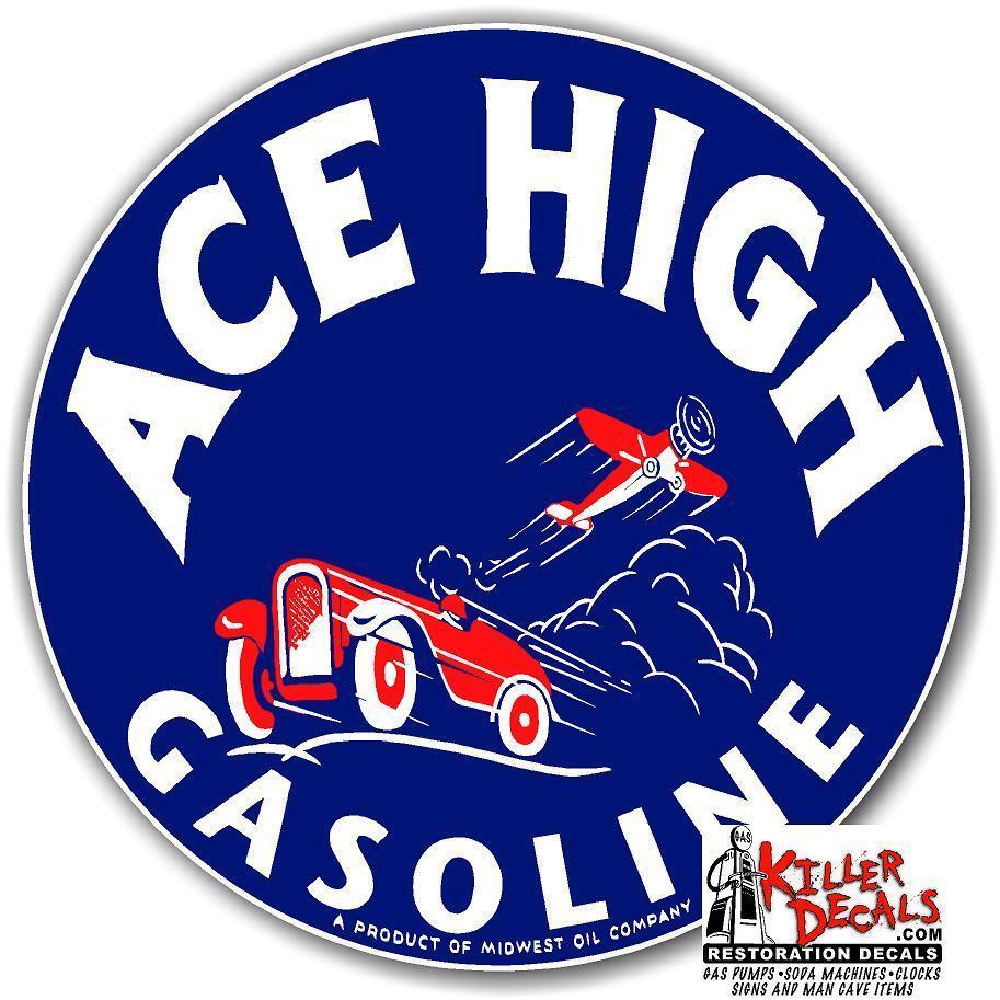 "12/"" right facing RICHFIELD HI OCTANE  GASOLINE OIL VINYL DECAL GAS PUMP LUBSTER"
