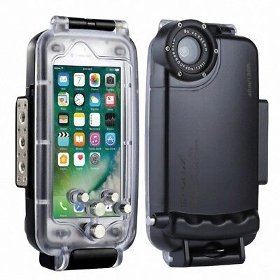 PULUZ for iPhone 6&6s 40m Waterproof Diving Protection Underwater Cover Case Black