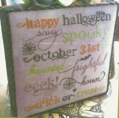 Halloween Word Jumble (HALLOWEEN JUMBLE--Words--Spooky--EEEK!--SCARY--Counted Cross Stitch)