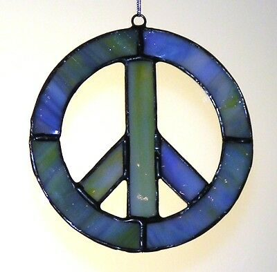 Stained Glass Peace Sign Sun Catcher