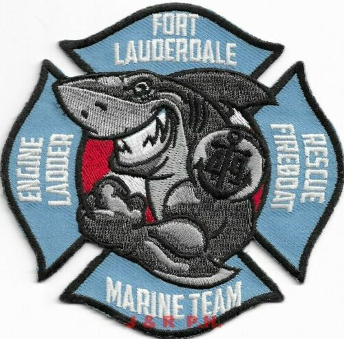 """*NEW* Ft. Lauderdale Station-49 / Fireboat / Marine, FL (4"""" x 4"""") fire patch"""