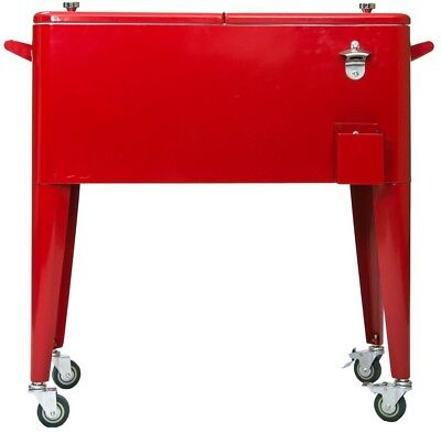 Permasteel PS-203-RED-2 Patio Cooler with Insulated Basin, 8