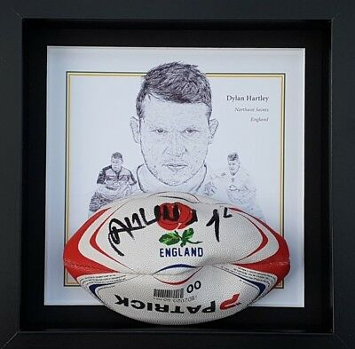 Dylan Hartley Signed and Framed