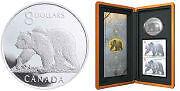 Ensemble monnaie, pièce et timbres de 8$ Ours 2004.