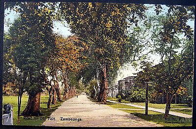 PHILIPPINES ~ 1900's ZAMBOANGA ~ Road to Old Fort
