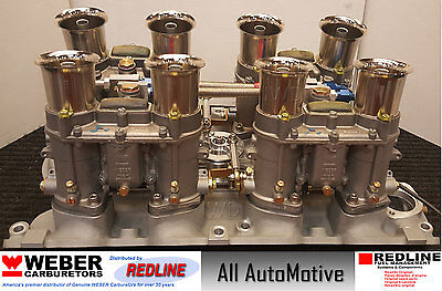 Ford 429 / 460 Weber 48IDA kit w/manifold, linkage, & 4 genuine 48 IDA webers