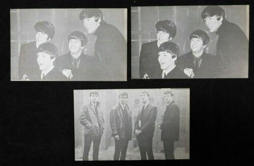 "Beatles 3.5""x5.5"" Exhibit Cards Lot Of 3 Cards (Lennon/McCartney/Harrison/Starr)"