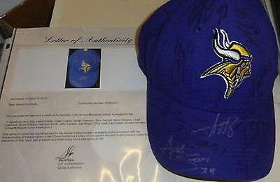 MINNESOTA VIKINGS Team Signed Cap Adrian Peterson Greenway Harrison Smith Rookie