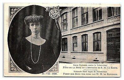 1910 Queen Elisabeth of Belgium, National League against Tuberculosis Postcard