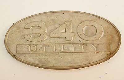 International Harvester 340 Utility Gas Aluminum Side Emblem Ih Tractor Farmall