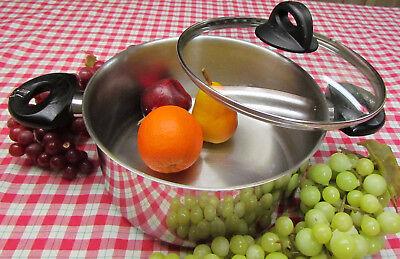 Vtg Bialetti Stainless Encapsulated Bottom 6 Qt Dutch Oven Stock Pot Pan EZ -
