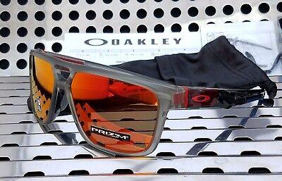 03ebb027f9 New Oakley CROSSRANGE PATCH 9382-0560 Sunglasses Matte Grey Ink w  Prizm  Ruby