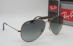 RAY BAN bronze/grey gradient RB3029 197/71 OUTDOORSMAN II sunglasses NEW IN BOX!