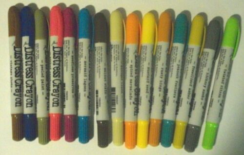 Tim Holtz Distress Crayons, 15 Crayons of Different Colors - NEW