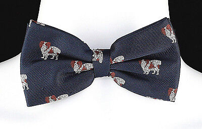 Toy Dog Mens Bow Tie Papillon Spaniel Adjustable Novelty Wedding Gift Bowtie New
