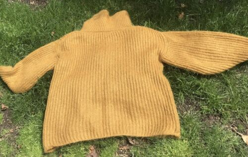 Vintage Sweater Wool & Mohair Wool Handknit Turtleneck XL