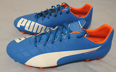 Puma EvoSPEED 5.4 Football Boots - Electric Blue/White/Orange - UK 10.5