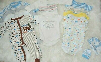 baby clothes 13 piece lot 0-3 months boys indigobaby george