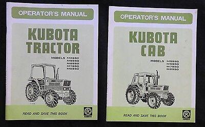 Kubota M4950 M5950 M6950 M7950 M8950 Tractor Operators Manual Also Has The Cab