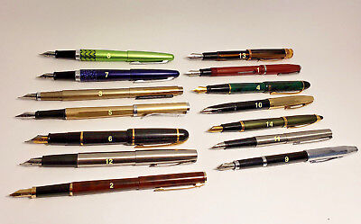14 FOUNTAIN PEN COLLECTION - WATERMAN, PILOT, SHEAFFER, CROSS, PARKER, AND MORE