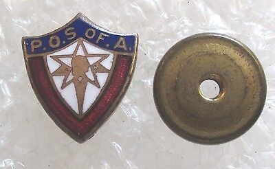 Vintage Patriotic Order of the Sons of America Fraternal Society Pin-P.O.S. of A