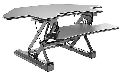 Zeal Height Adjustable Cubical Sit To Standing Convertible Table Computer Desk