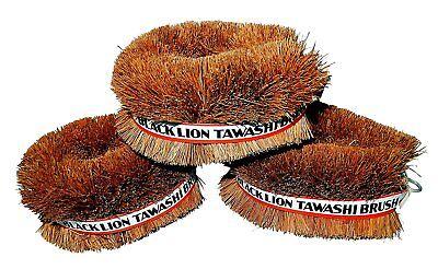 Set of 3 Black Lion Tawashi Vegetable Cleaning Scrubbing Brush, Made in Japan