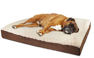 Orthopedic Dog Bed Pet Lounger Deluxe Cushion for Crate Foam Soft Fuzzy - -