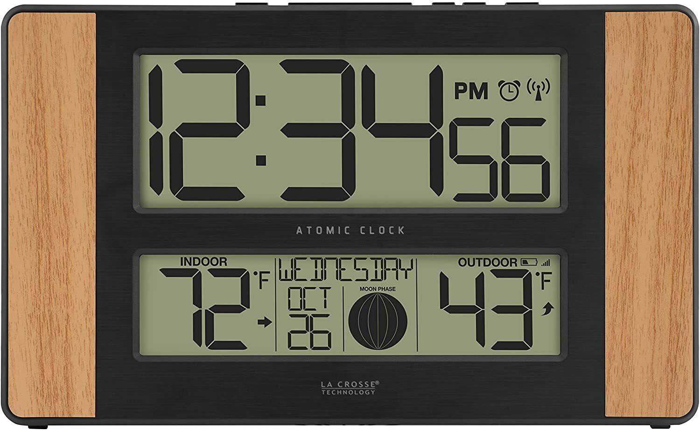 atomic digital clock oak 513 1417 int