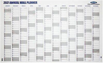 A1 2021 Agenda Anual Desmontado 12 Mes Calendario de Pared Borrable Superficie