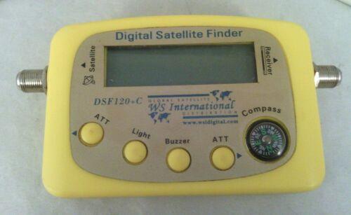 DIGITAL SATELLITE FINDER DSF120+C BY WS INTERNATIONAL TECH EQUIPMENT TV MHZ