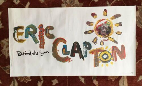 ERIC CLAPTON  Behind The Sun  rare original promotional poster