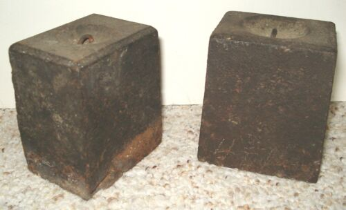 TWO (2) OLD WEIGHTS FOR EARLY AMERICAN SHELF CLOCK OR SIMILAR CLOCK