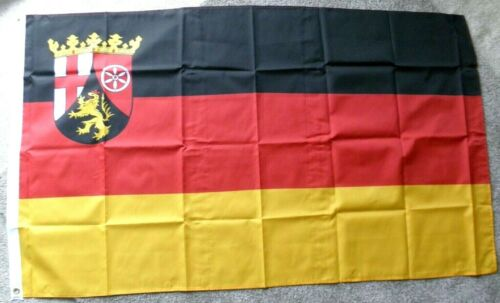 RHEINLAND PFALZ GERMANY POLYESTER INTERNATIONAL COUNTRY FLAG 3 X 5 FEET