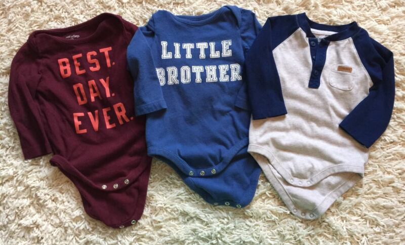Lot Of Baby Gap Boy 6-12 Months Shirts Bodysuits Gymboree Brother Best Day Ever