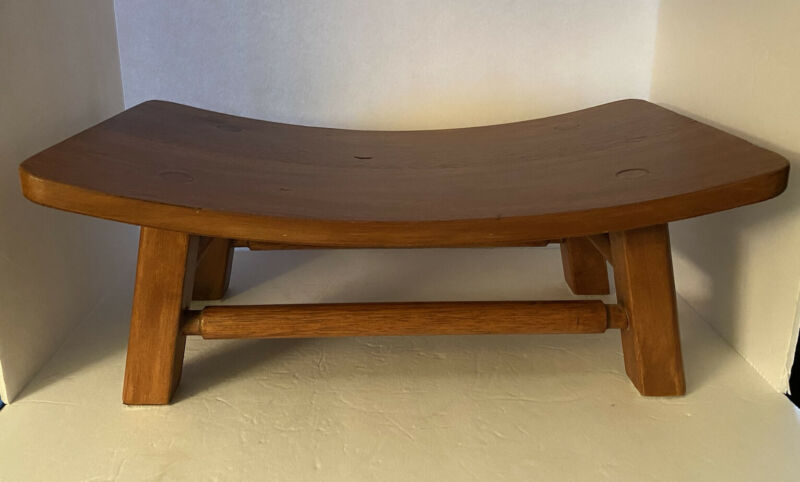 Mid Century Danish modern MCM Small Teak Ottoman Foot Stool Rest