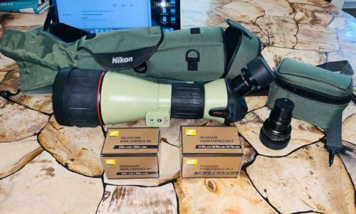 Nikon Fieldscope ED82 with Nikon 24x/30x 60mm eyepiece AND 13-40 20-60 25-75x Ey