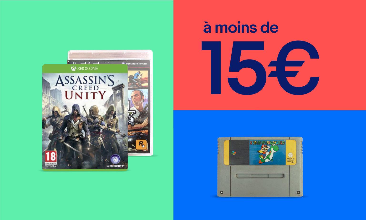 Jeux vidéos à moins de 15€