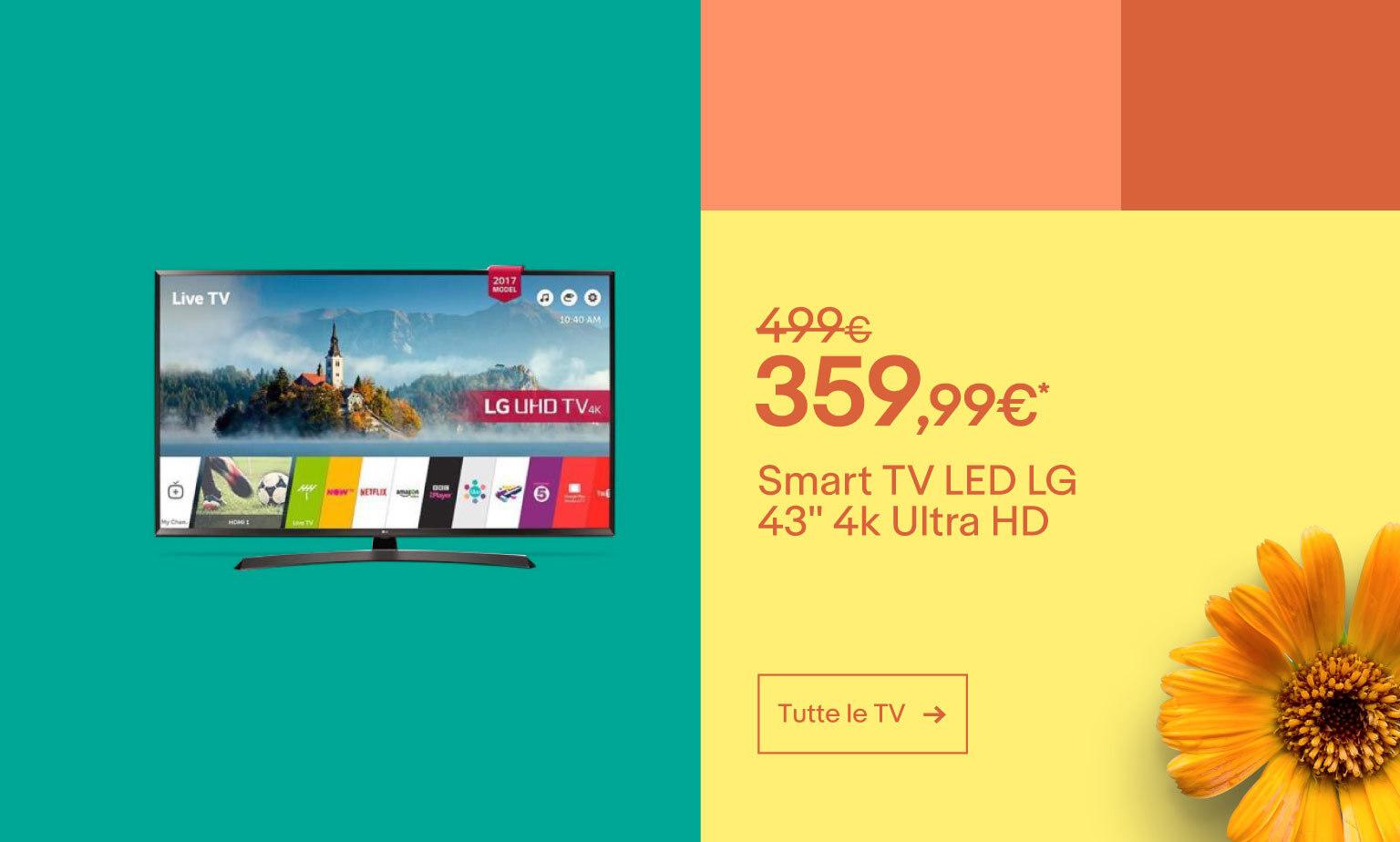 Sullo schermo grandi offerte fino al -50%