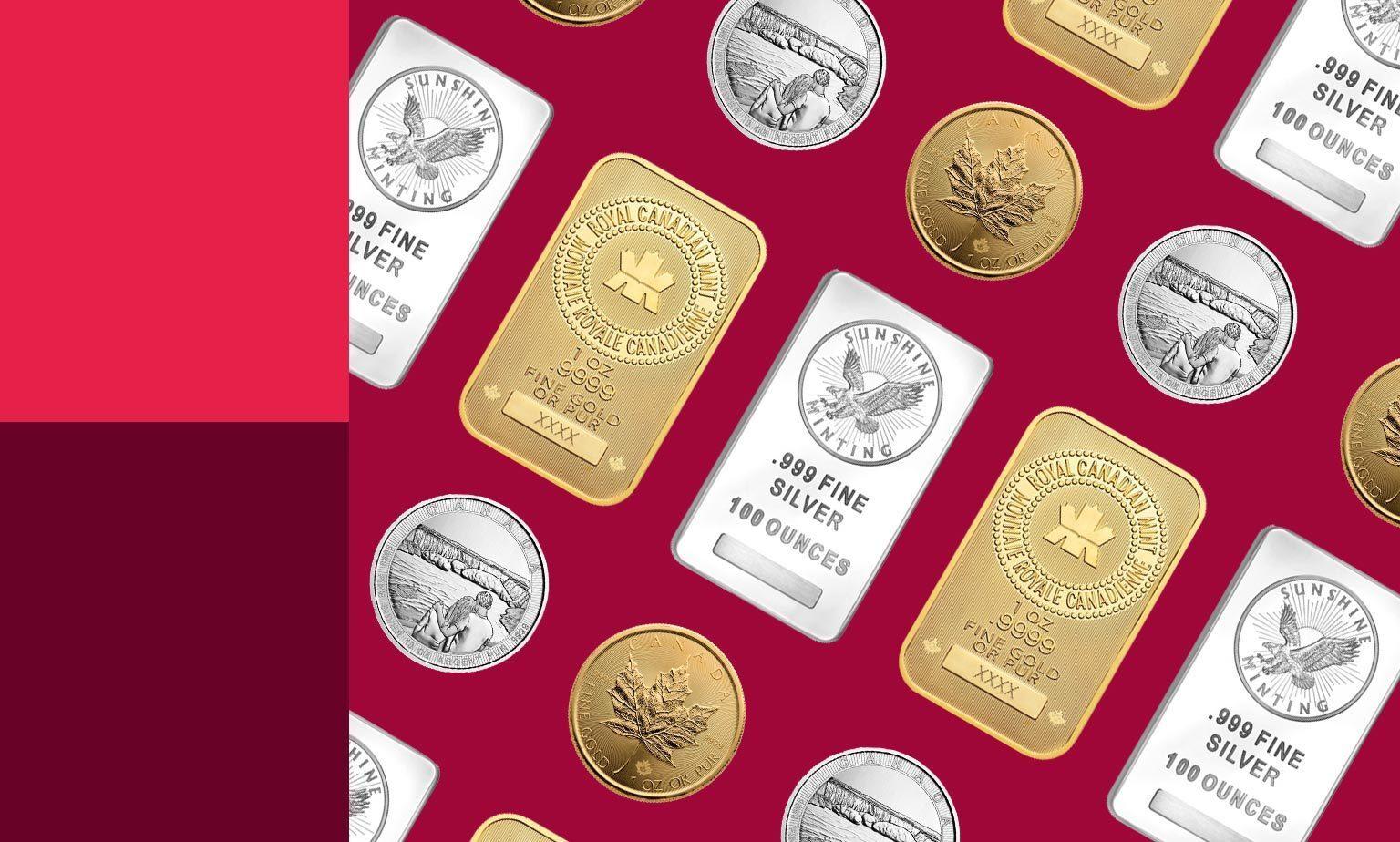 Rabais sur une sélection d'or et d'argent.