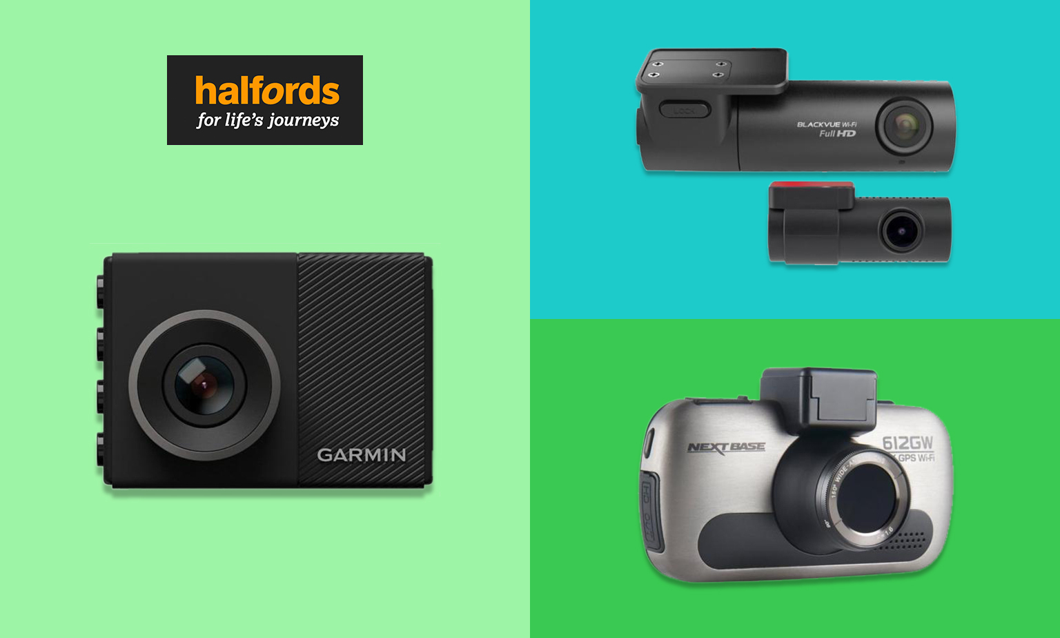20% off Dashcams from Halfords