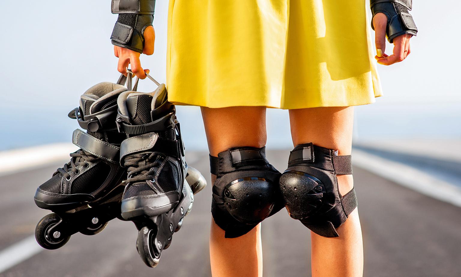 Sichere Fahrt mit Protektoren und Helmen