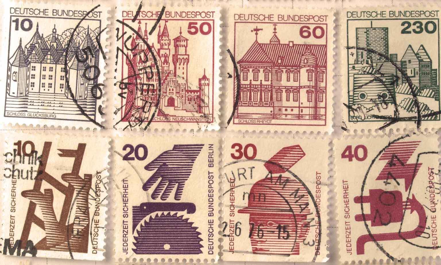 Gebrauchte Briefmarken
