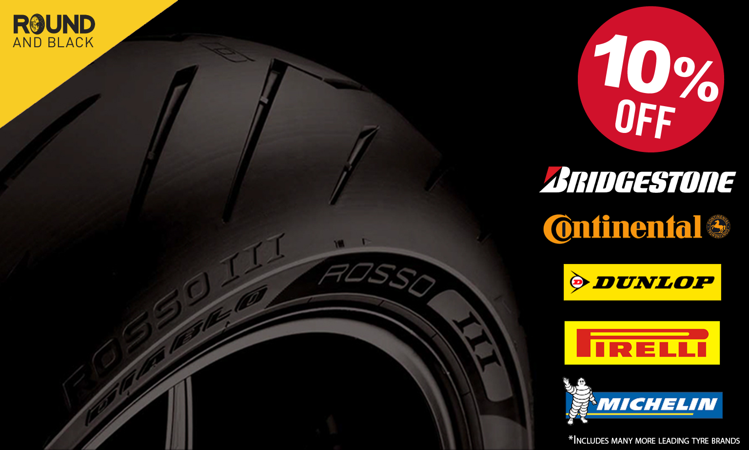 Save 10% on Road & Off Road Motorcycle Tyres