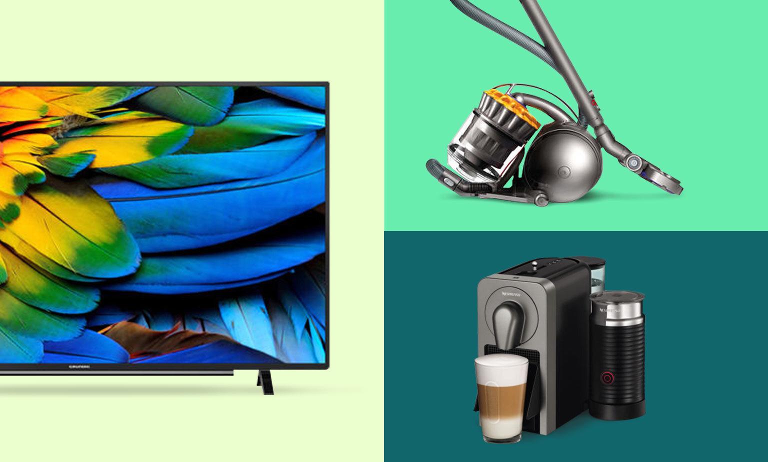 Bis zu -40% auf TVs, Staubsauger & Co. sparen