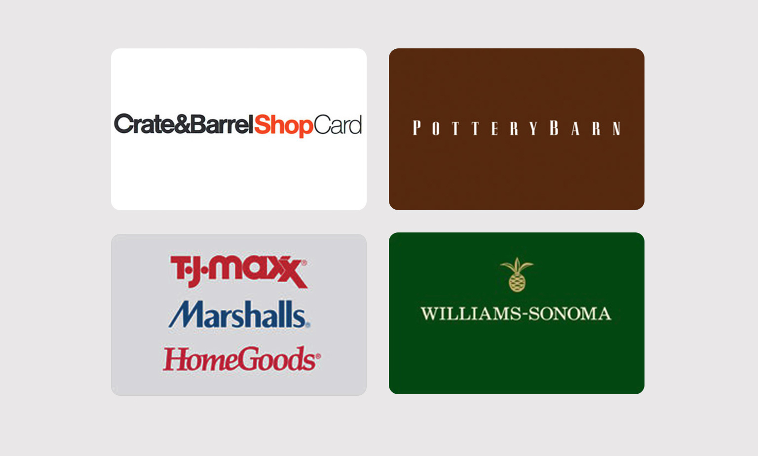 Newly Added Gift Cards