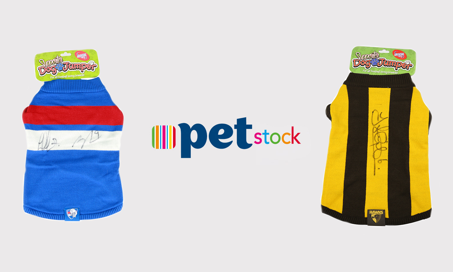 Bid on Signed AFL Dog Jumpers!