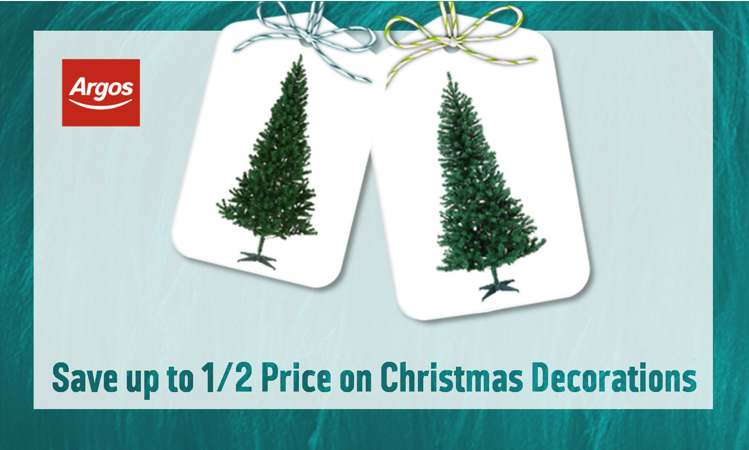Save up to ½ price on Christmas Decorations
