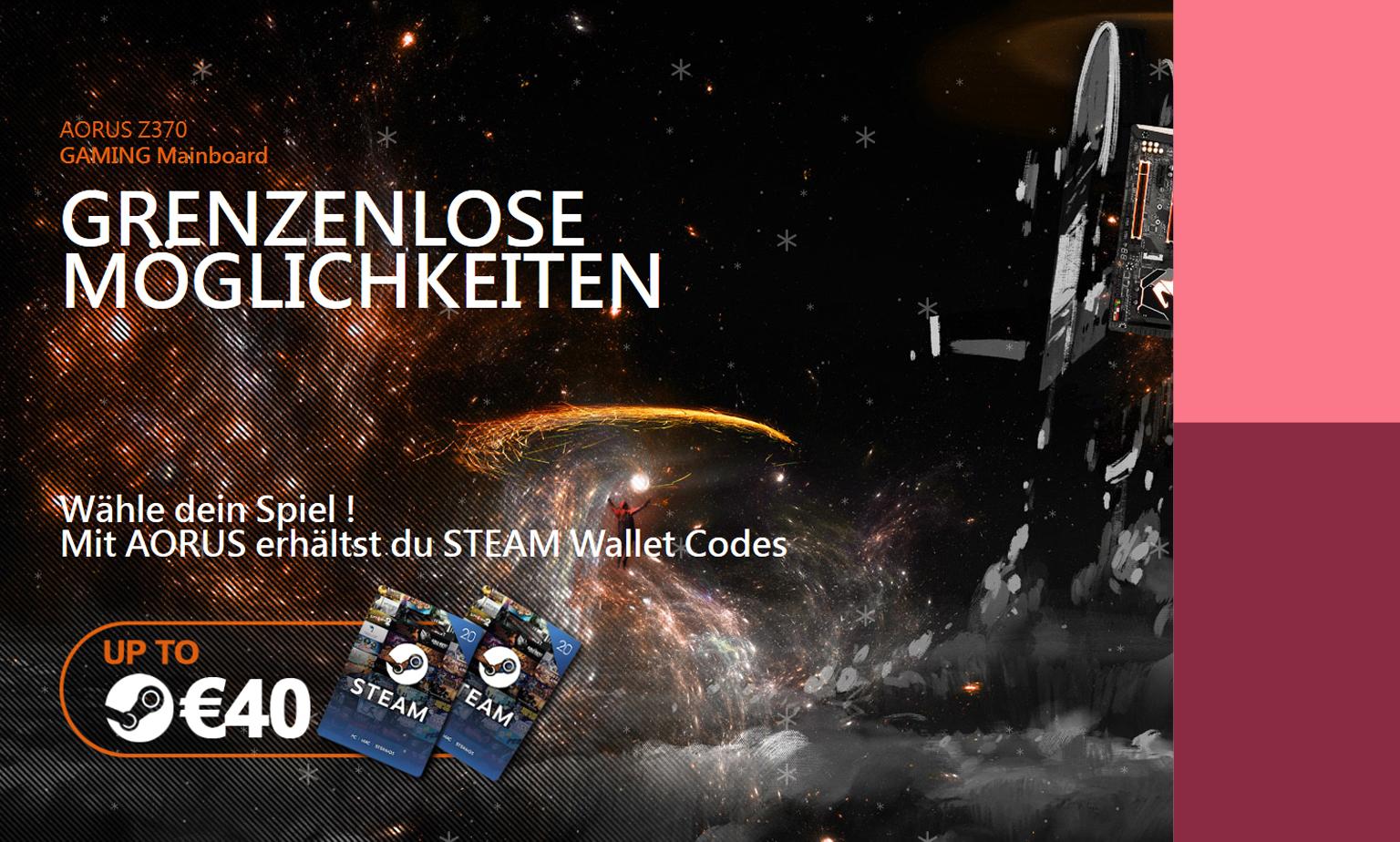 40€ STEAM Code sichern!